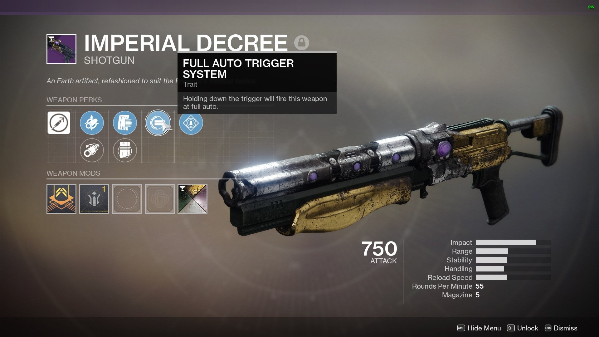 Imperial Decree god roll Destiny 2