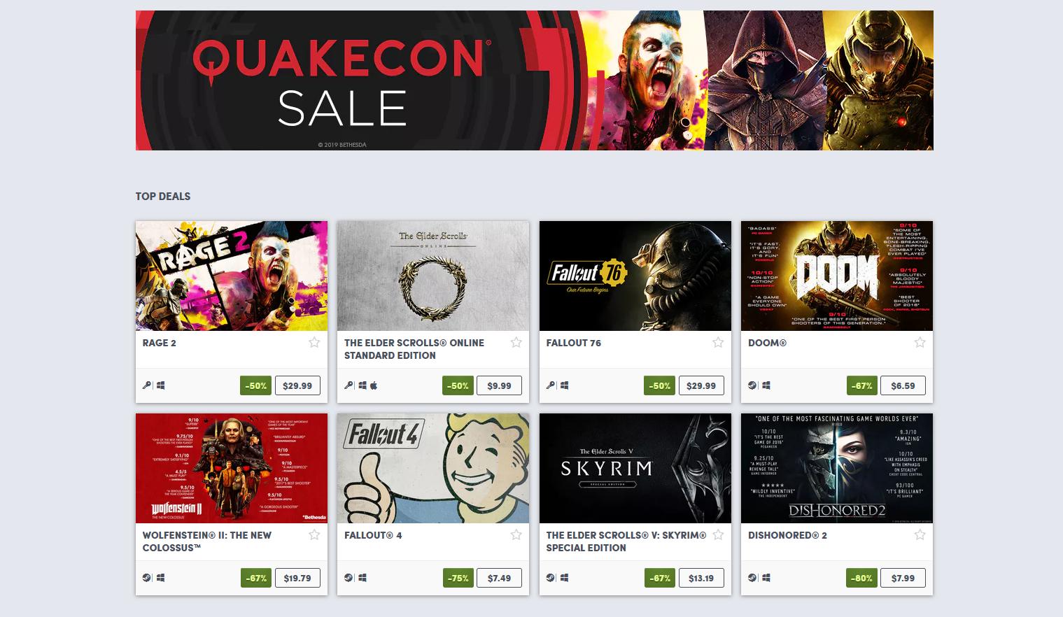 Best deals from the QuakeCon 2019 Humble Bundle Sale
