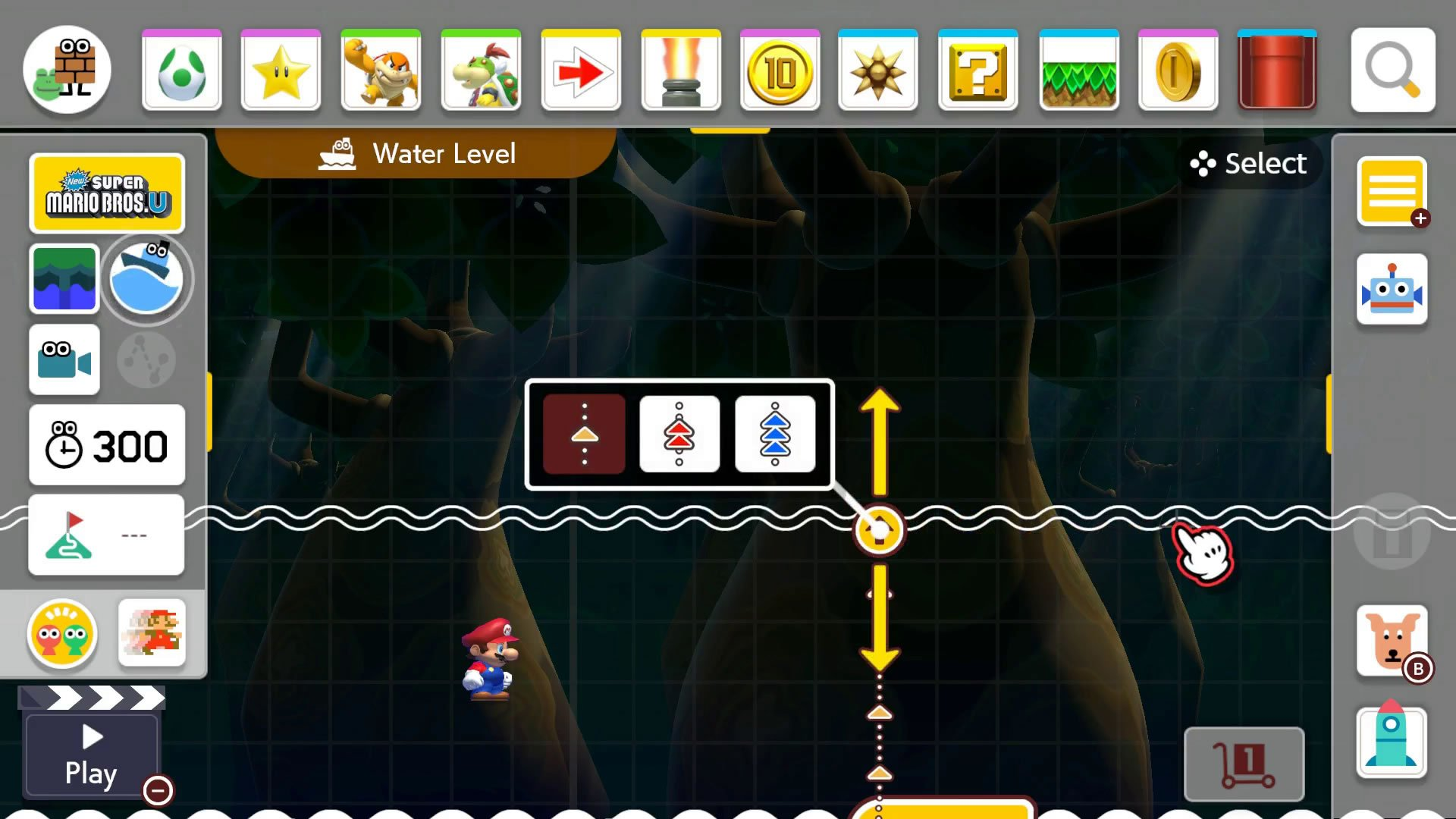 How to raise or lower water or lava levels in Super Mario Maker 2 Course Maker