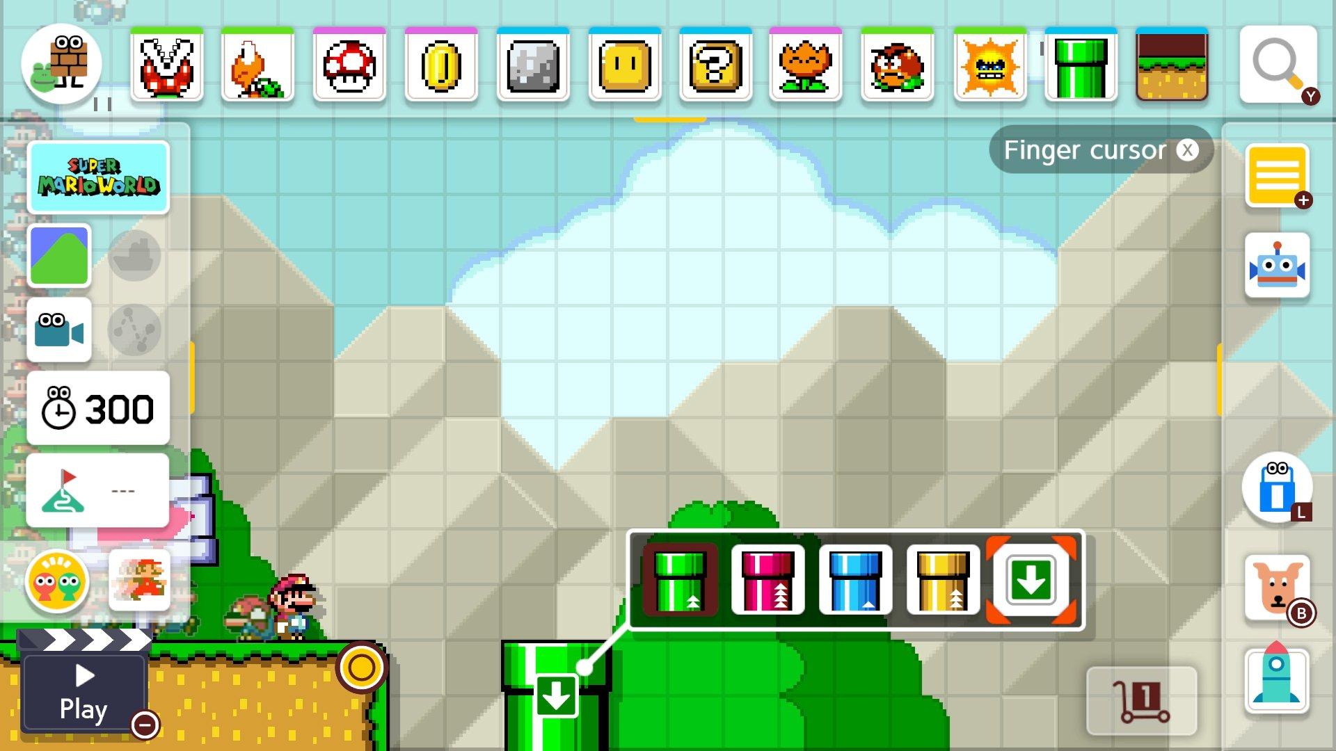 sub-area warp pipe Super Mario Maker 2