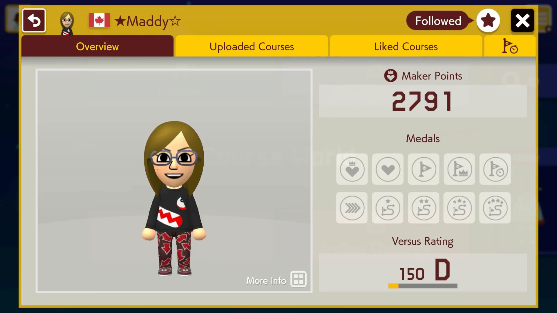 How to follow people in Super Mario Maker 2 - favorite button