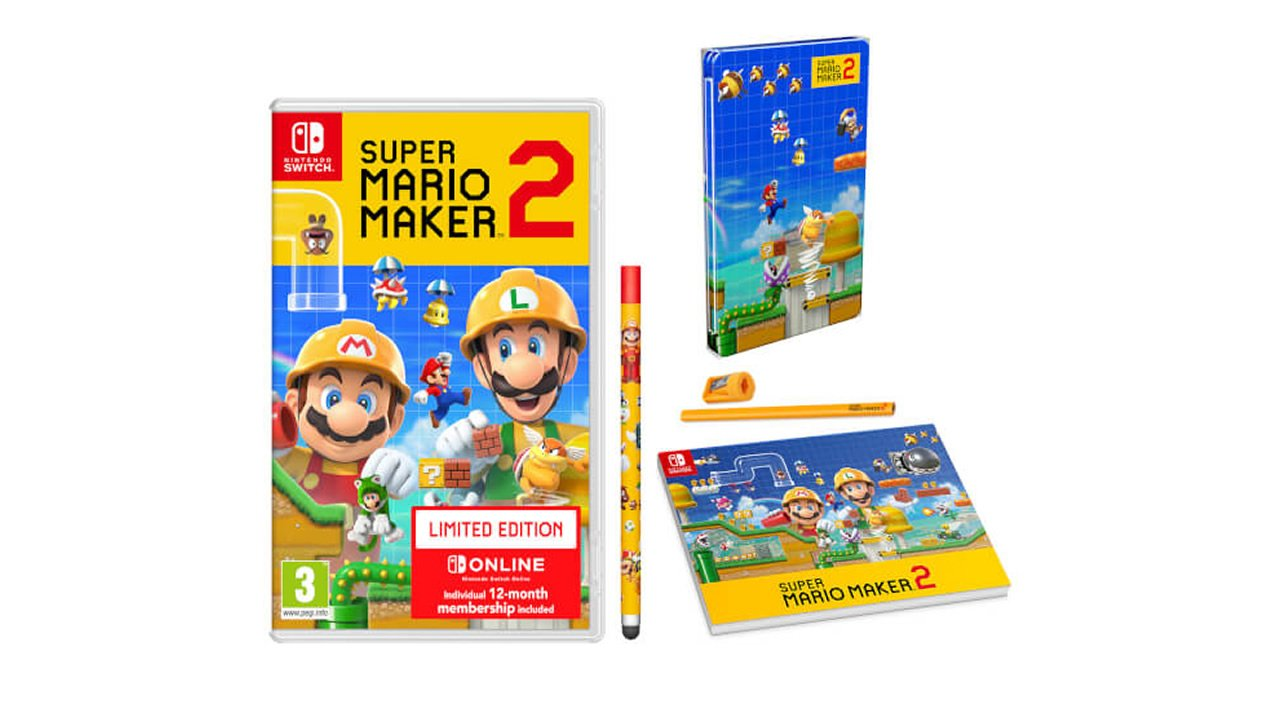 Super Mario Maker 2 Limited Edition bundle bonuses Nintendo Switch Online membership