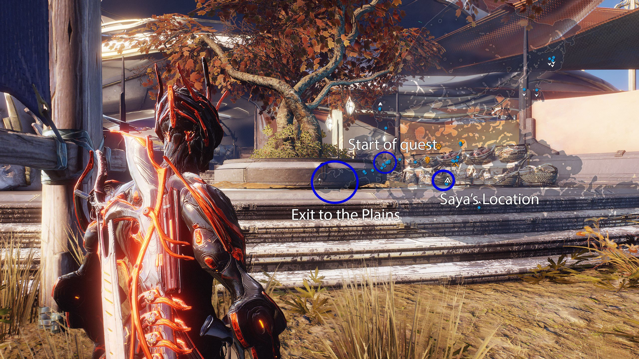 How to find Saya's location in Warframe Plains of Eidolon