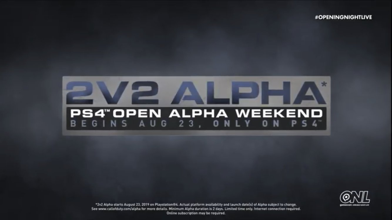 Call of Duty Modern Warfare 2019 PS4 open alpha 2v2