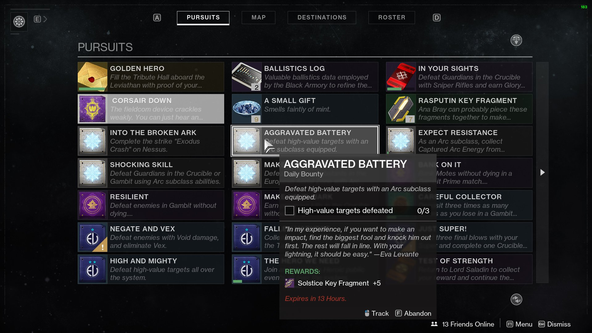 Aggravated Battery Destiny 2