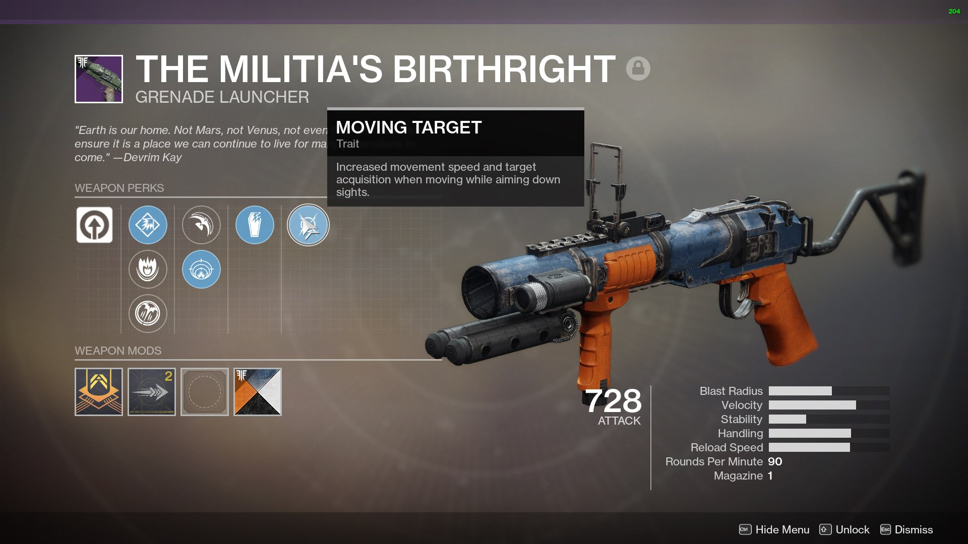 Destiny 2 Militias Birthright god roll
