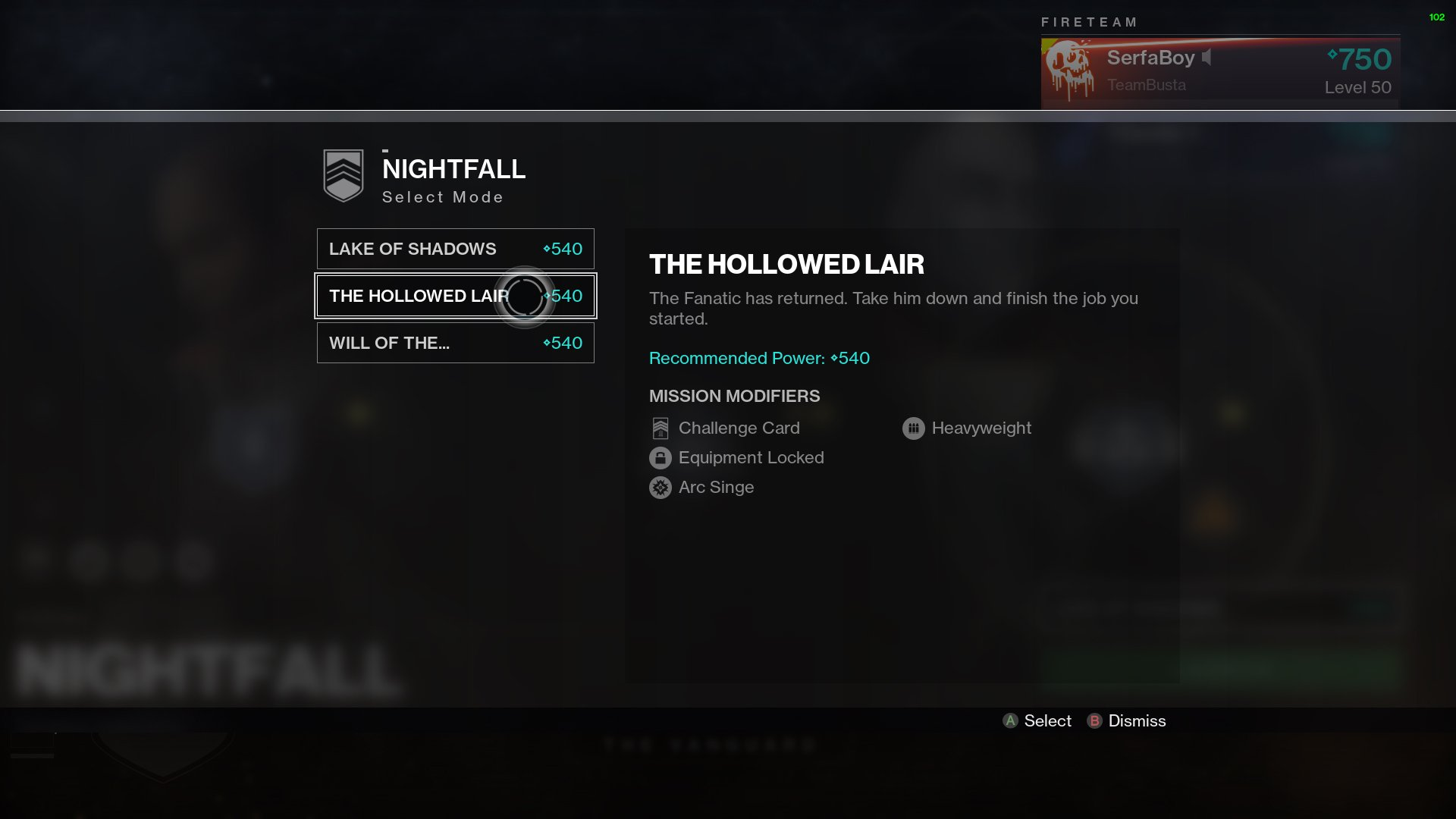 Destiny 2 The Hollowed Lair Nightfall Mindbender's Ambition