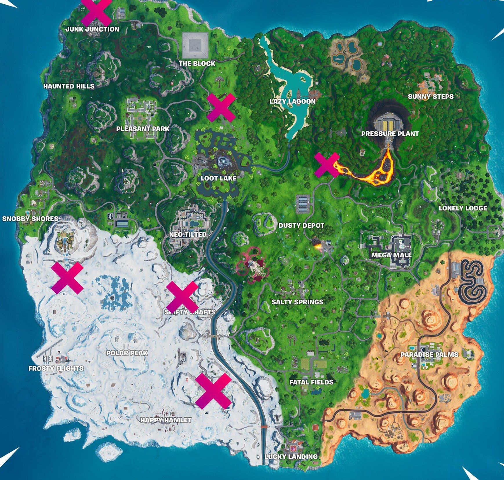 Fortnite - all lost spray can locations