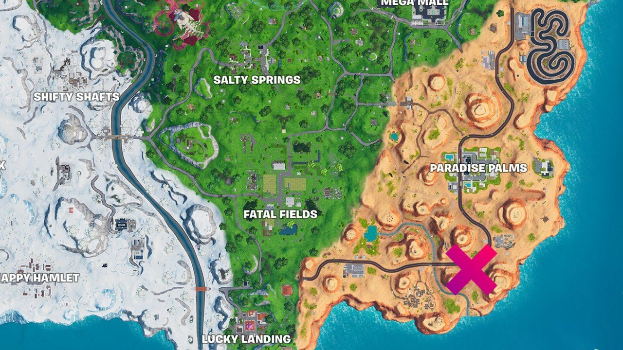 Fortnite - Dinosaur head location