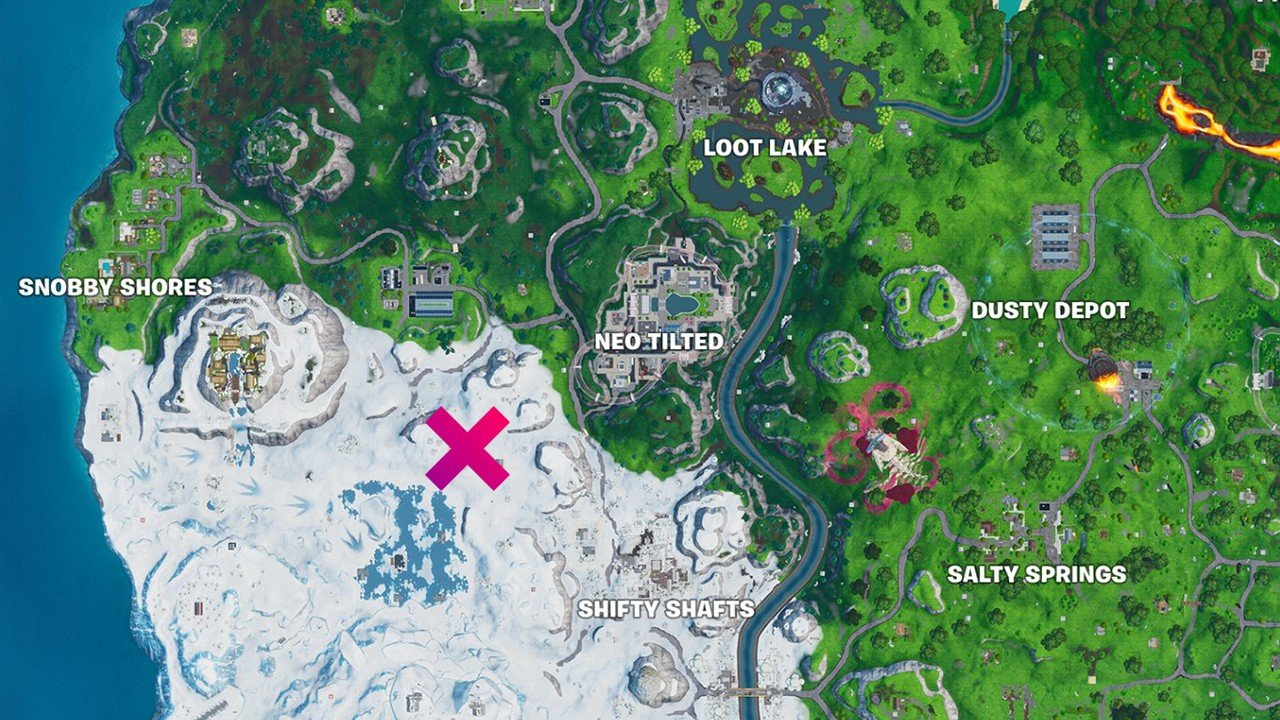 Fortnite - painted stone head statue location