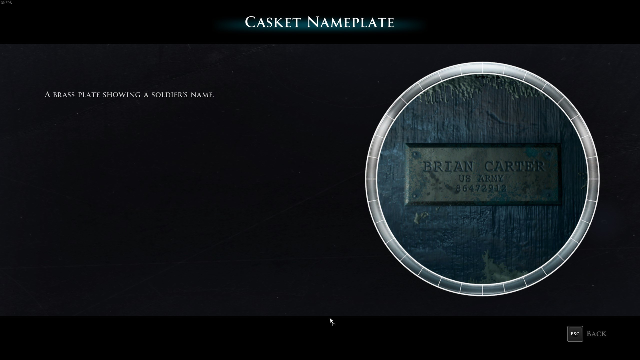 Man of Medan - Casket Nameplate