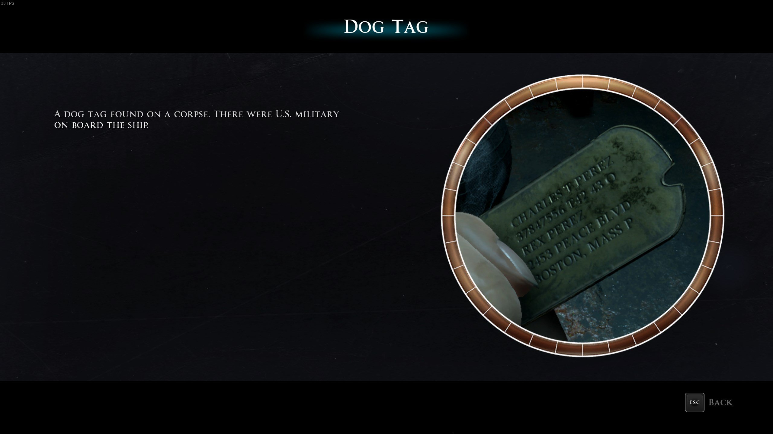 Man of Medan secret - Dog Tag