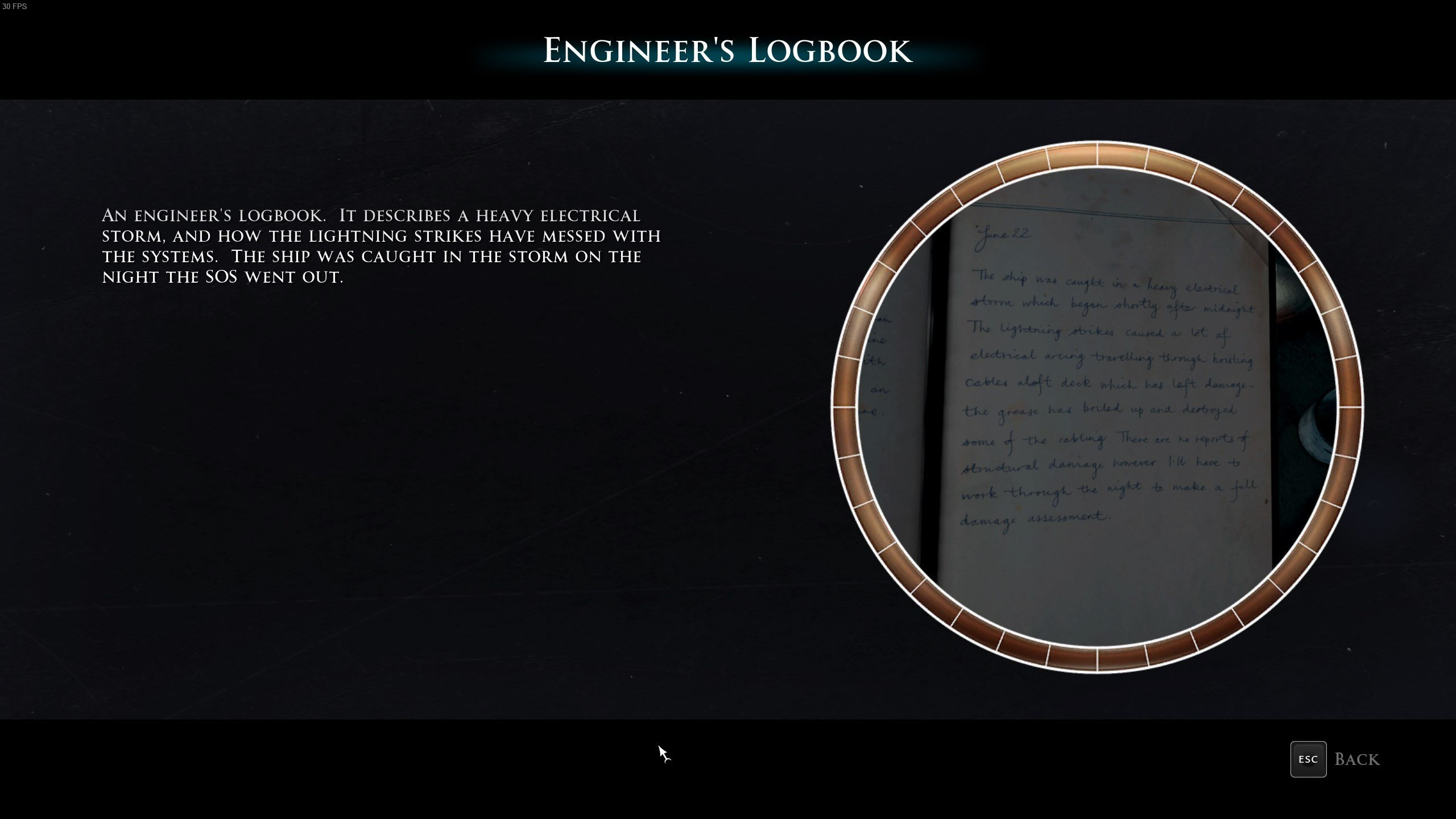 Man of Medan - Engineer's Logbook