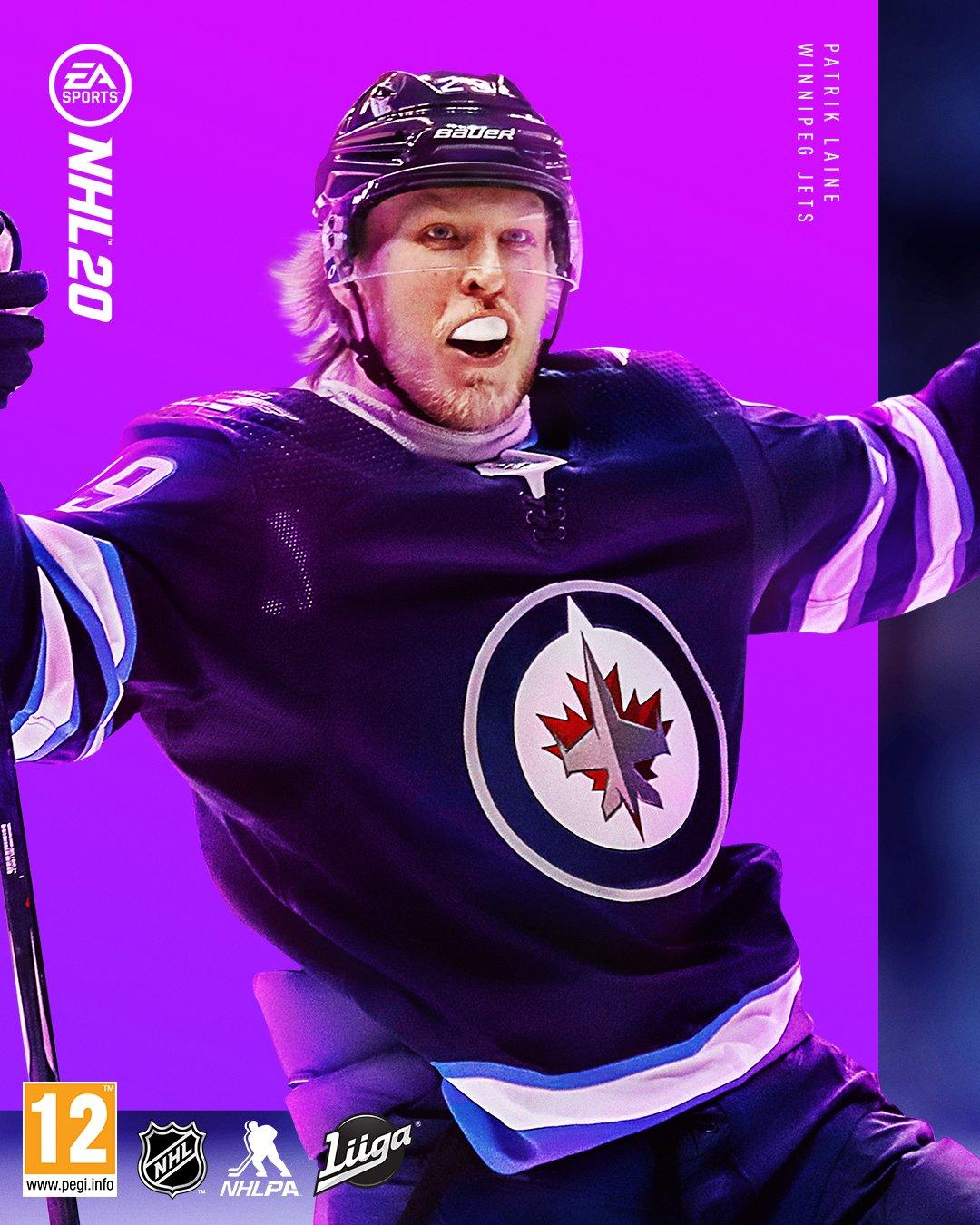 The NHL 20 Finland cover art depicting Patrik Laine.