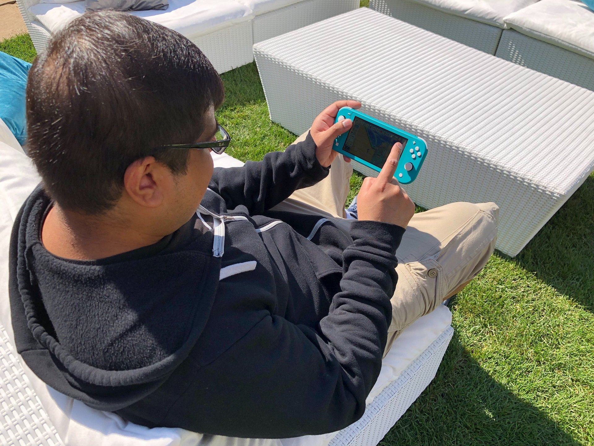 There were some issues with glare while playing the Switch Lite outside, but nothing out of the ordinary.