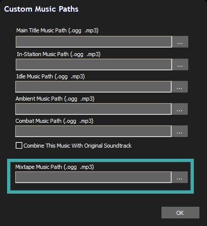 Rebel Galaxy Outlaw custom music path options