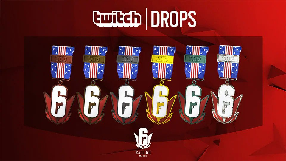 Six Major Raleigh Twitch Drops