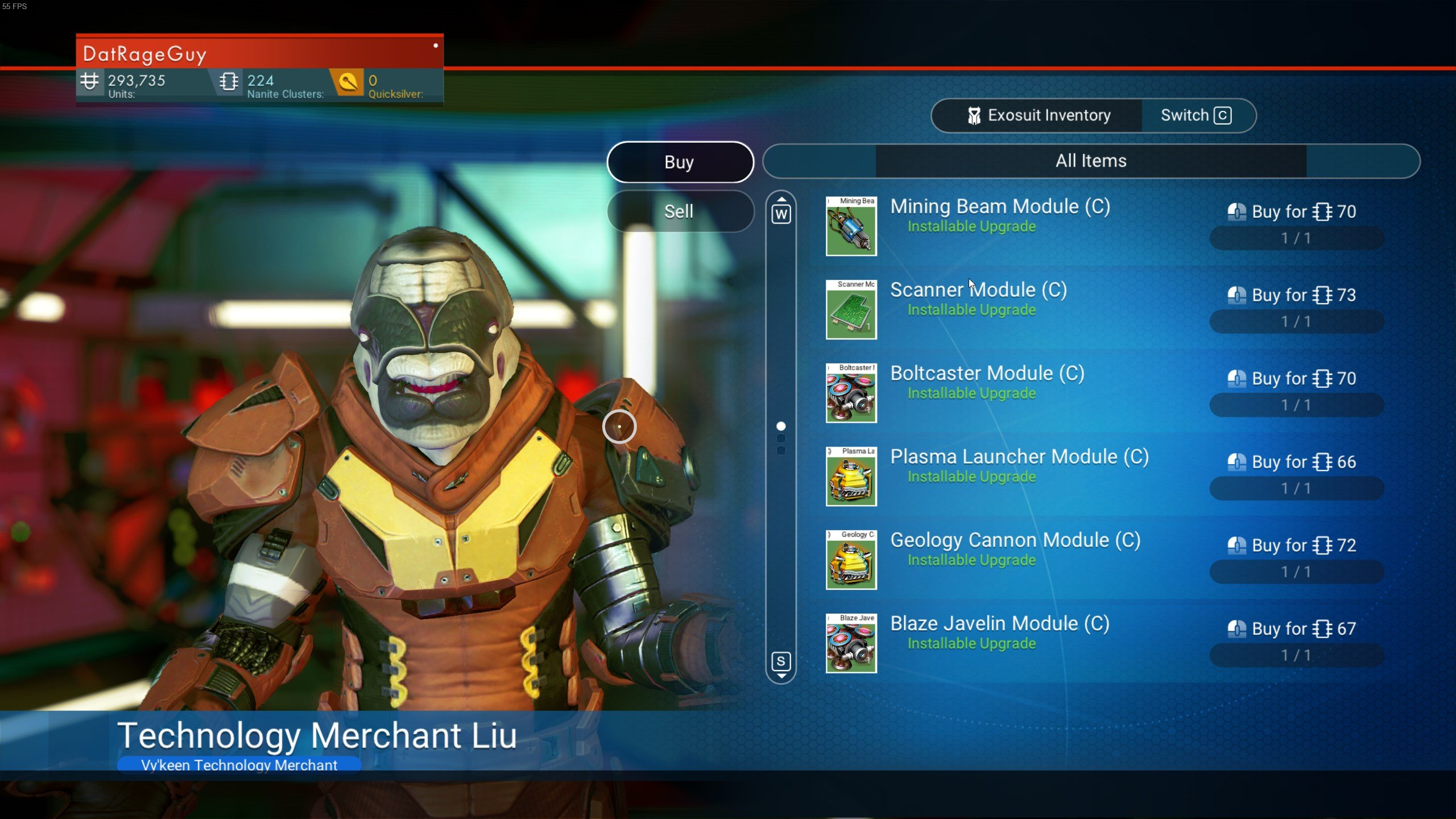 How to get Nanite Clusters in No Man's Sky