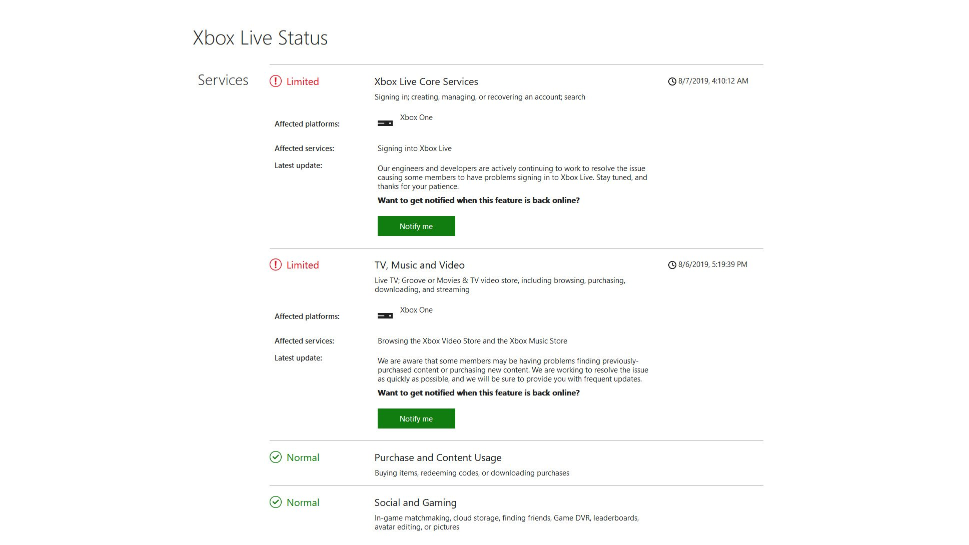 Is Xbox Live down? - How to check Xbox server status