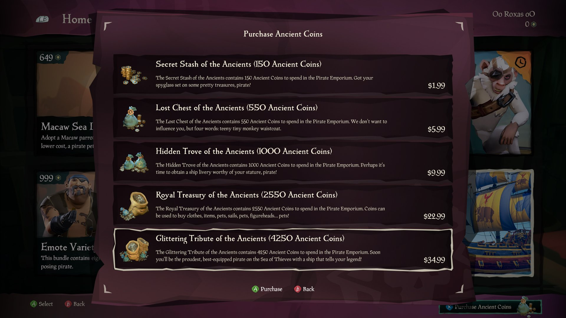 Ancient Coins Sea of Thieves