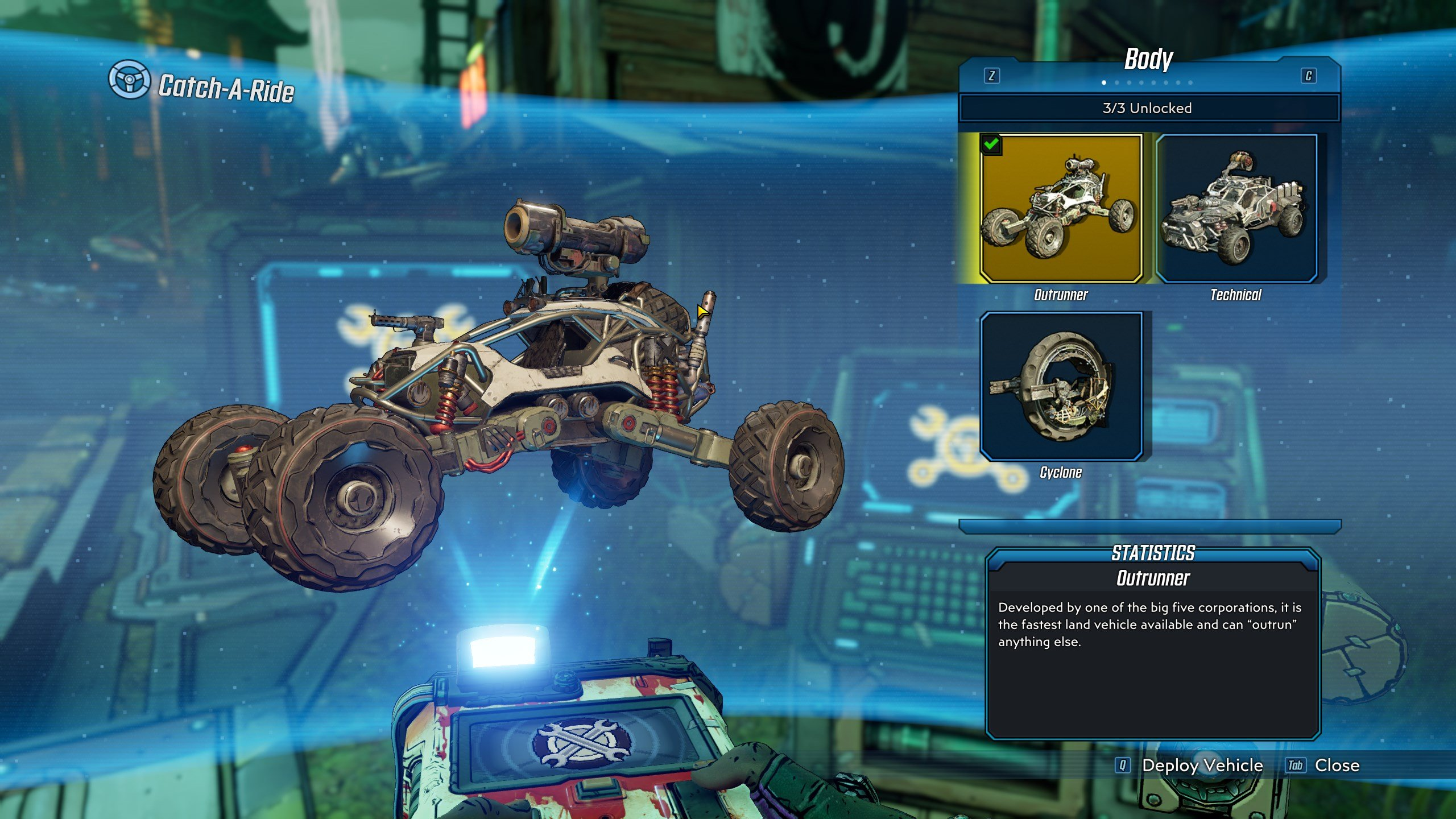 Borderlands 3 - all vehicles