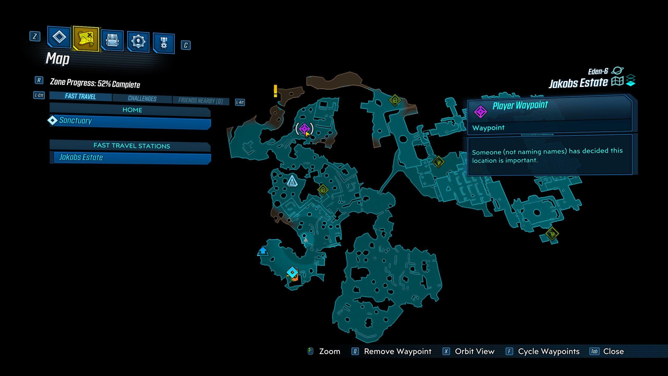 Borderlands 3 loot cave on Eden-6 location