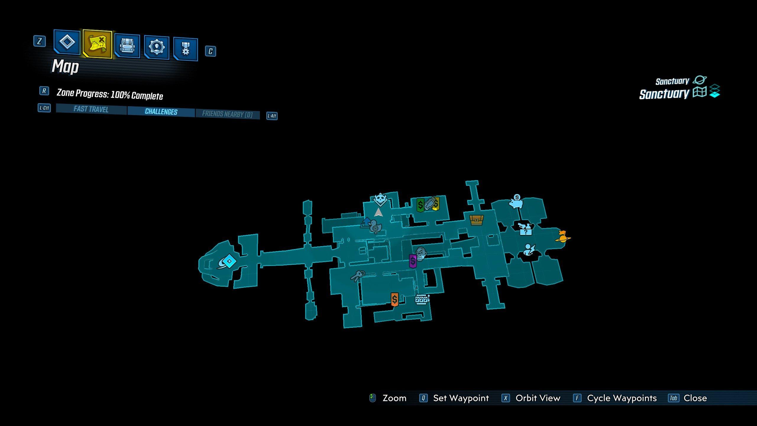 Borderlands 3 - Mayhem Mode activator on map