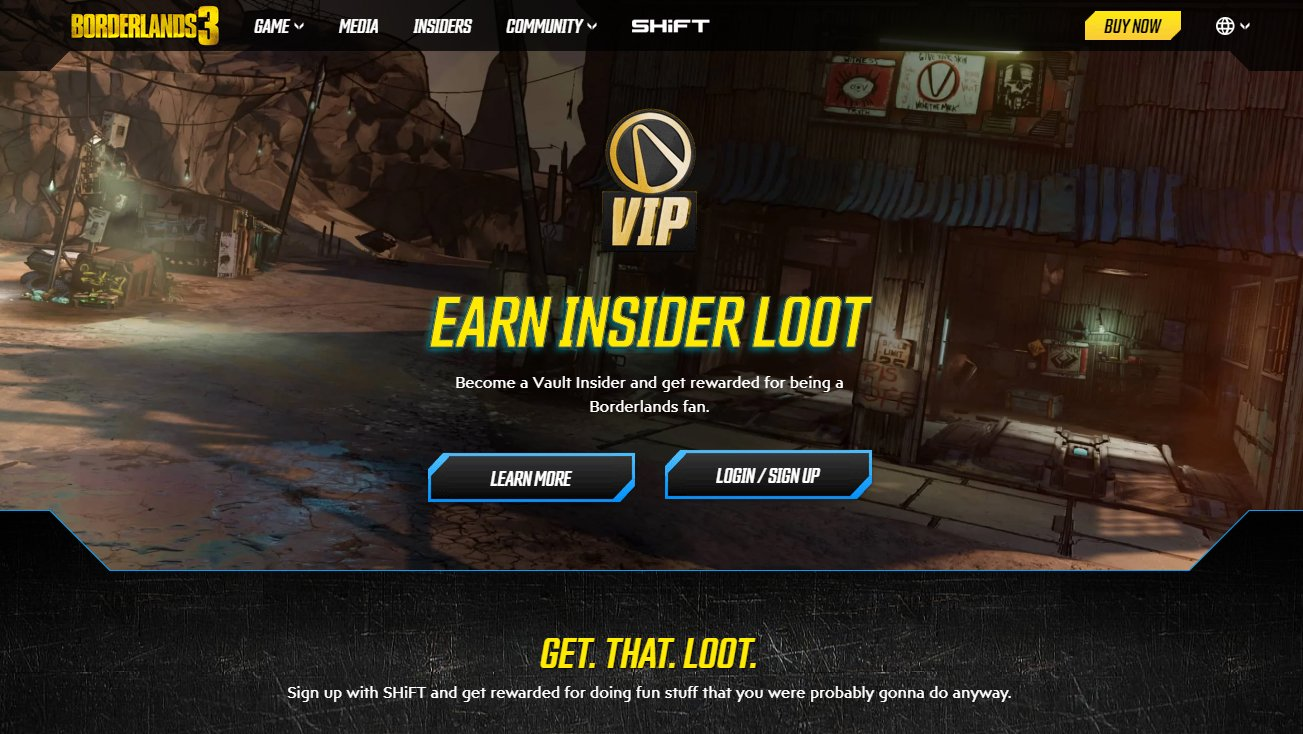 Borderlands 3 VIP sign up
