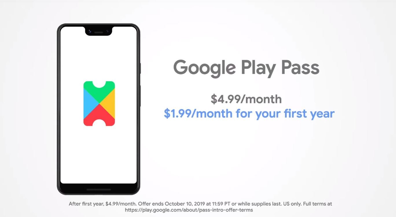 Google Play Pass subscription