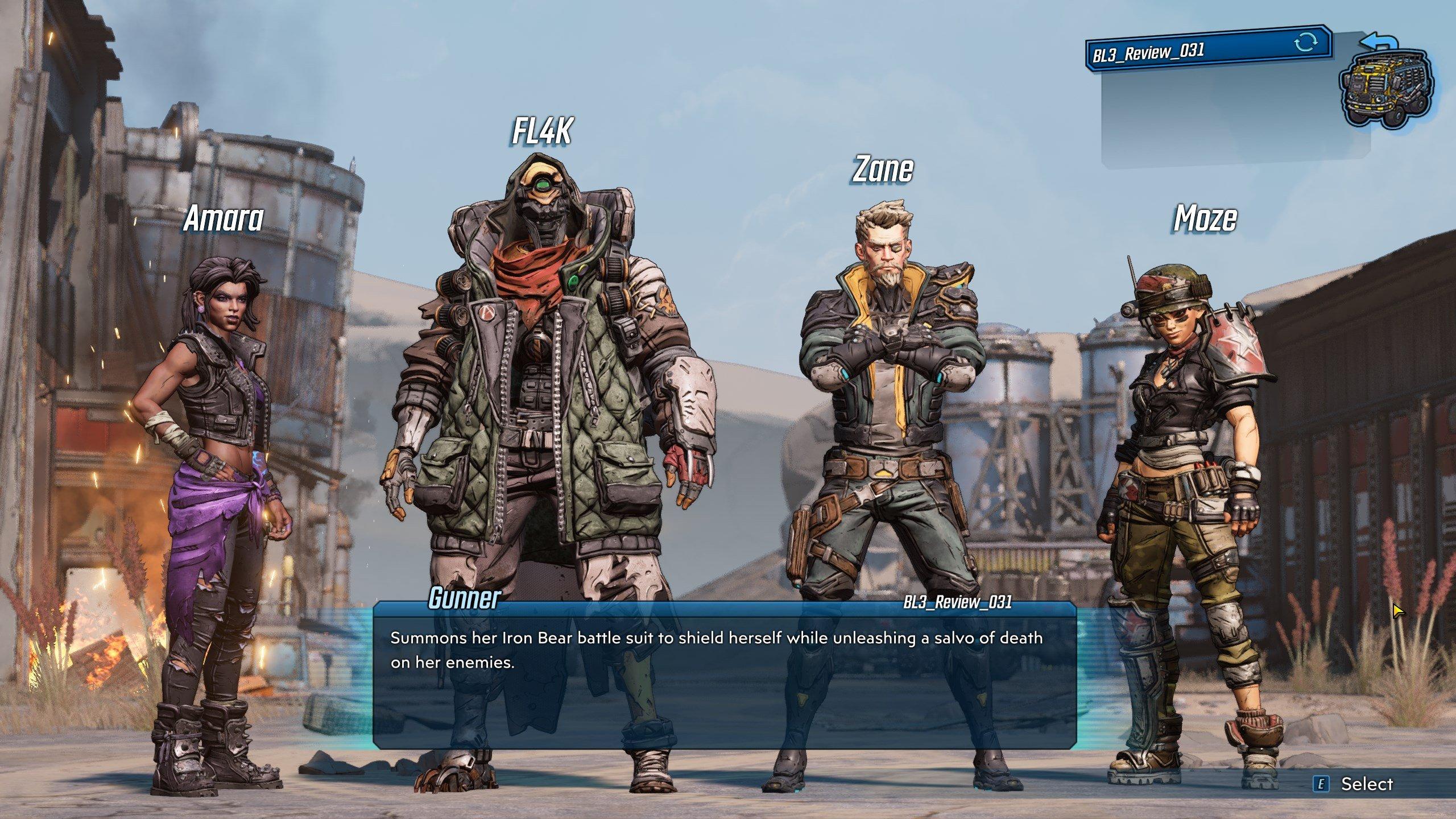 Borderlands 3 - All 4 Vault Hunters