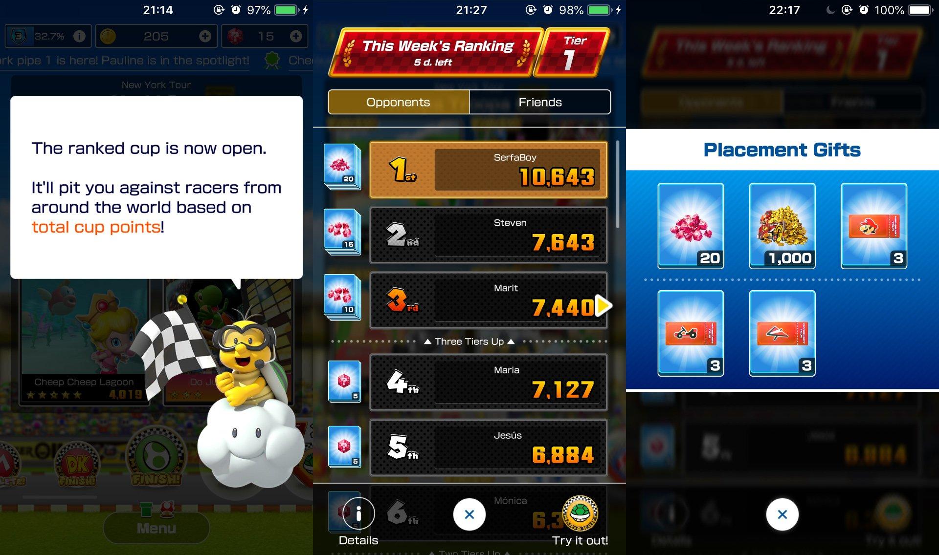 unlock ranking Mario Kart Tour