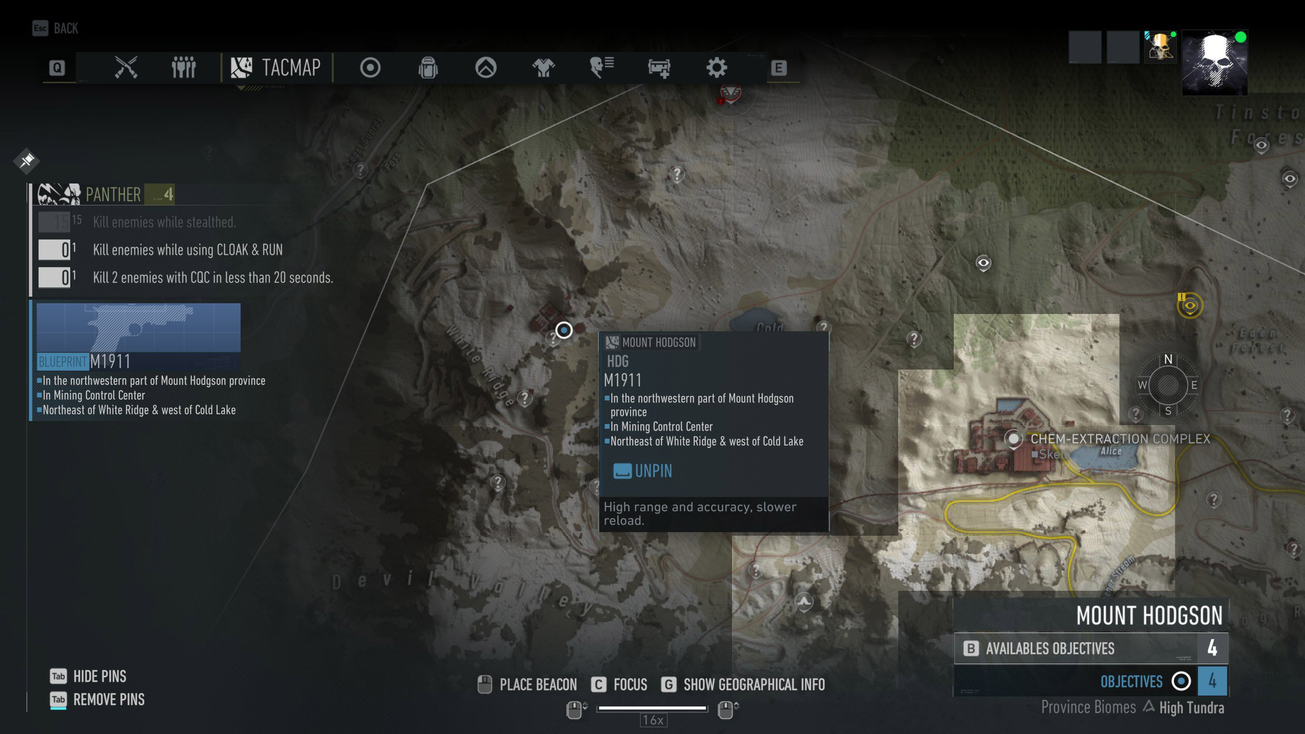 M1911 Blueprint Location Ghost Recon Breakpoint