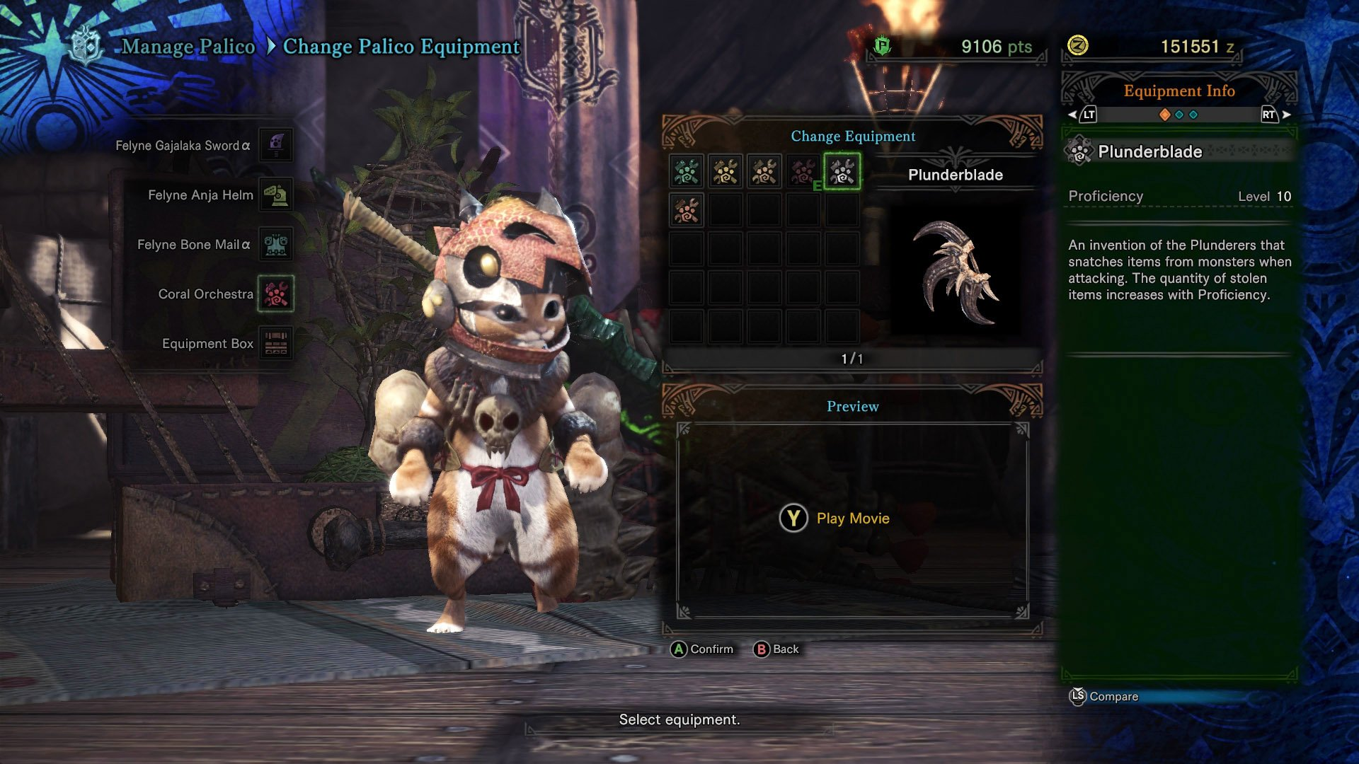 Plunderblade Monster Hunter World