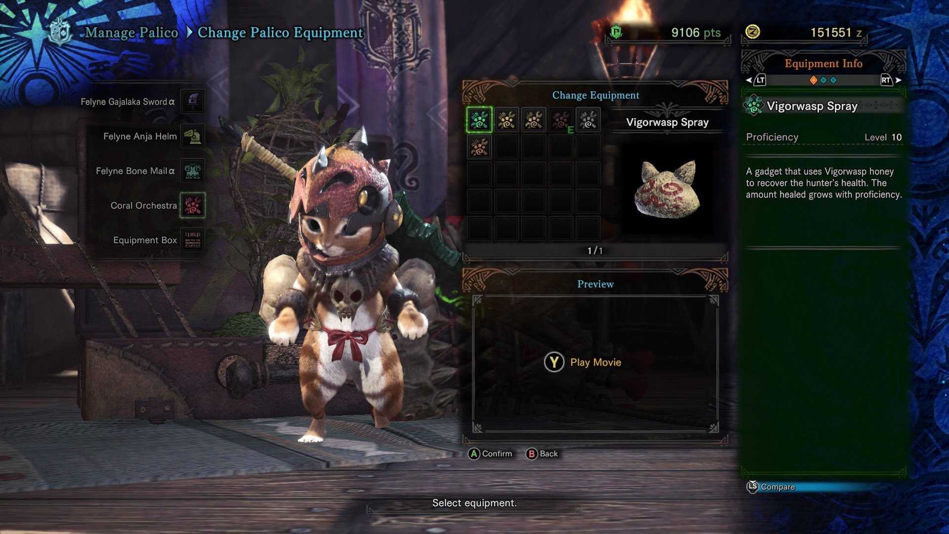 Vigorwasp Spray Monster Hunter World