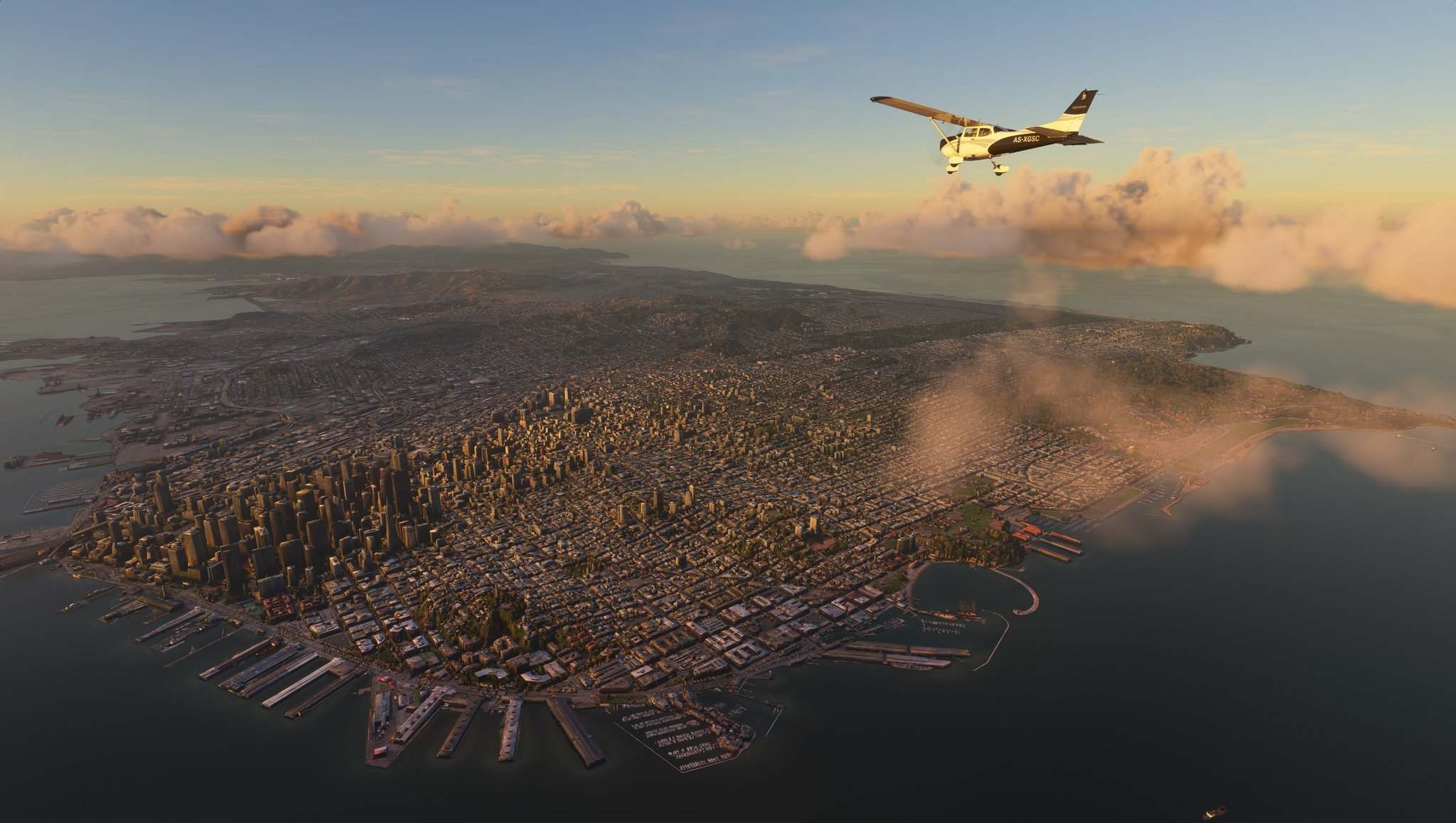 Microsoft Flight Simulator in-engine video