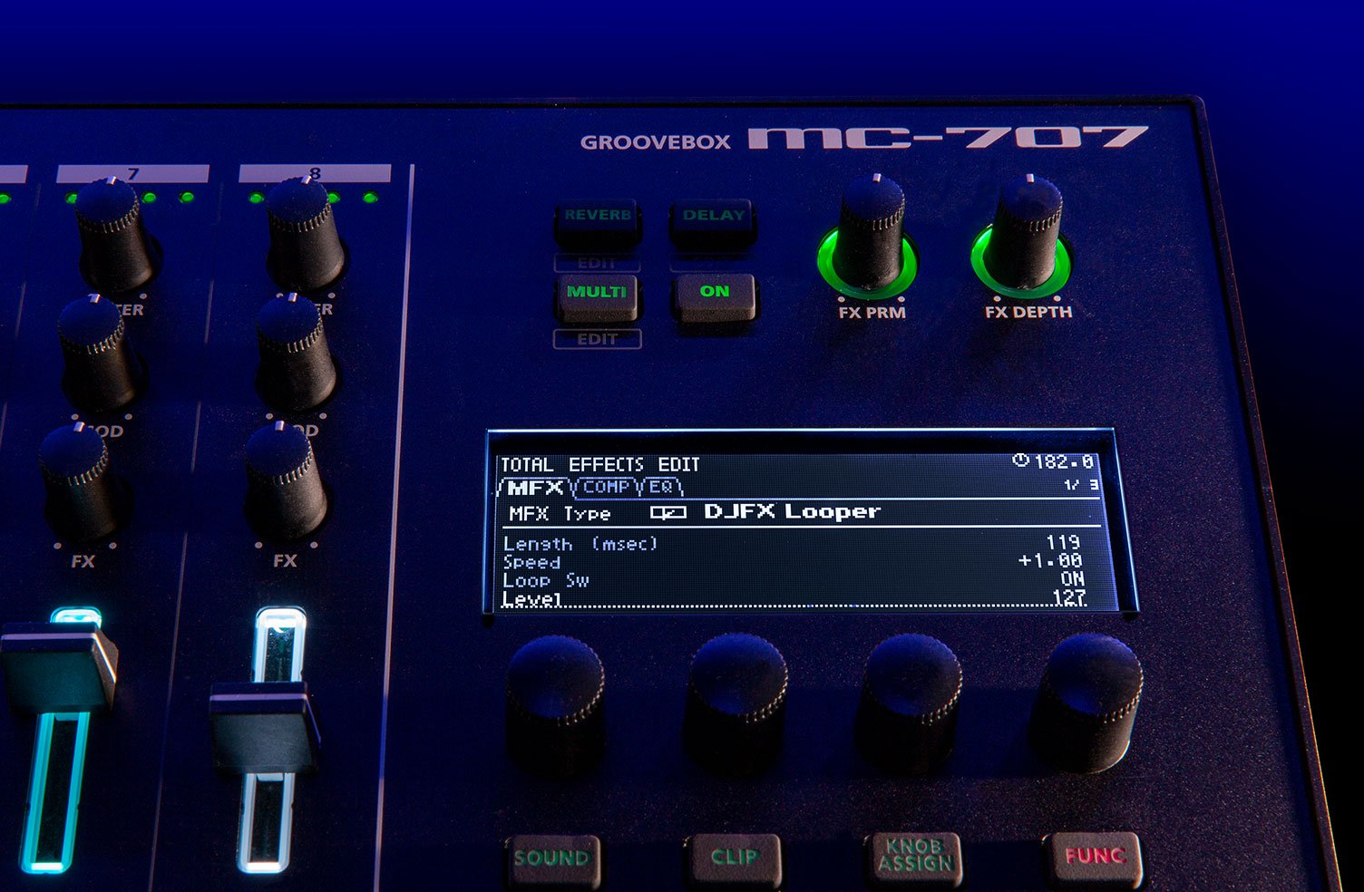 The MC-707 will boast some awesome studio-quality effects.