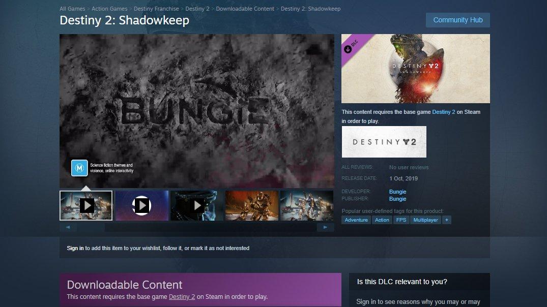 destiny 2 shadowkeep release time