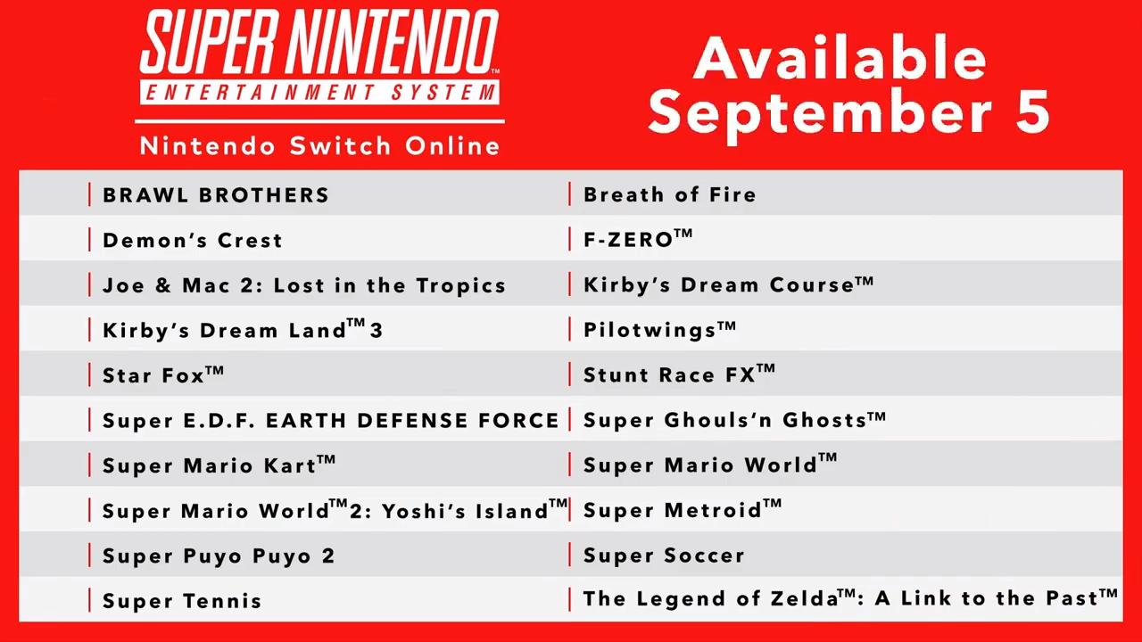Nintendo Switch Online finally gets Super NES games tomorrow