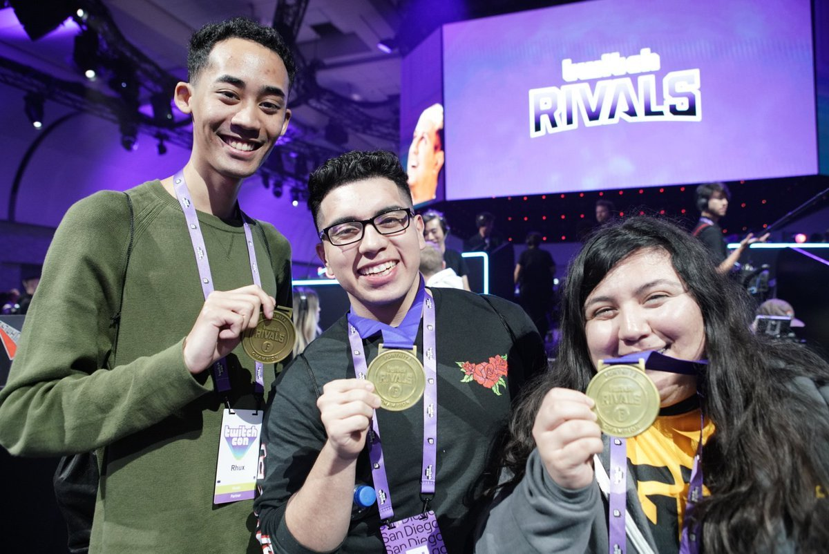 Twitch Rivals Fortnite winners: 1400Pika, Rhyx26, and TINARAES (Credit: @TwitchEsports)