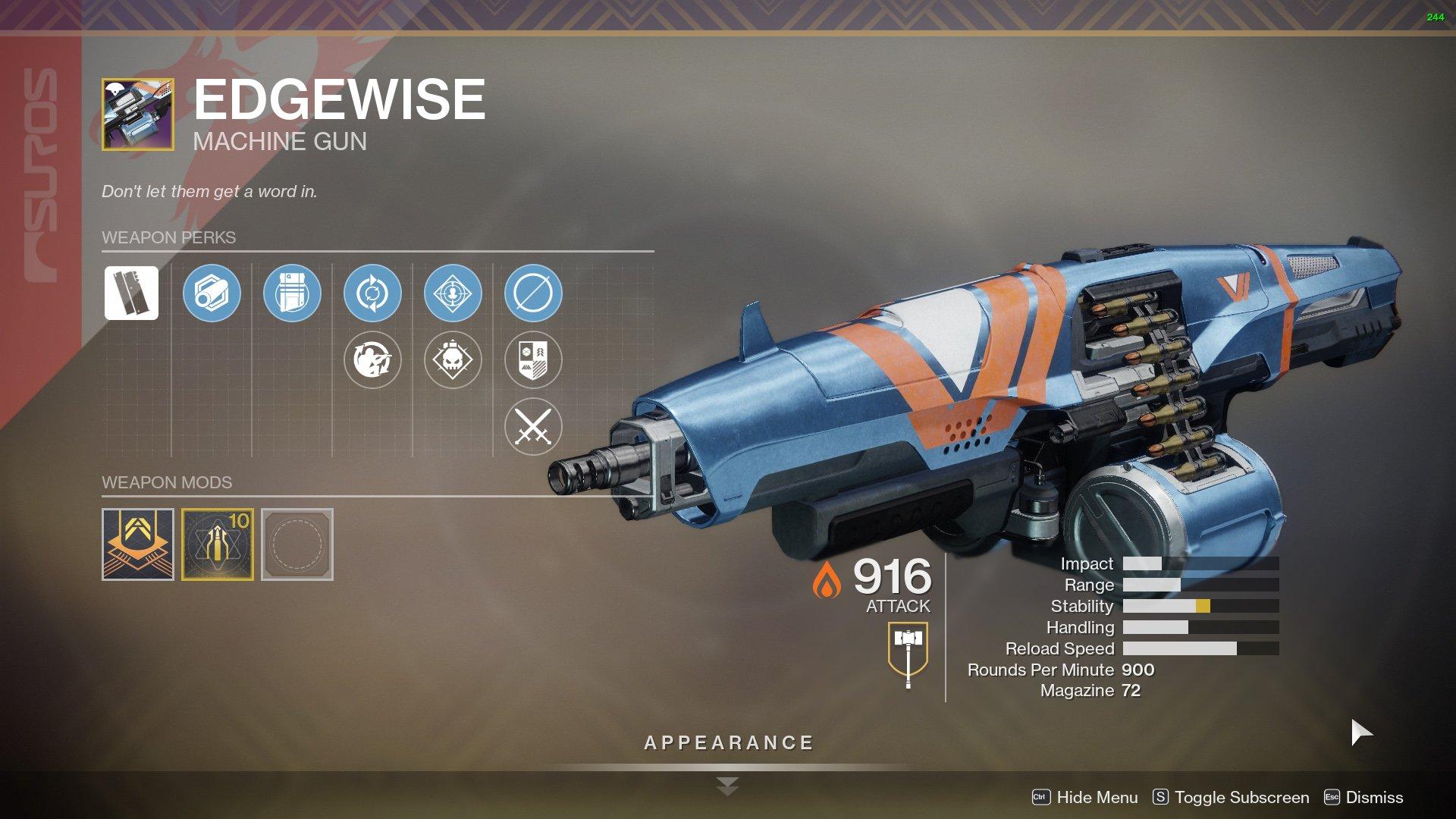 Destiny 2 Edgewise