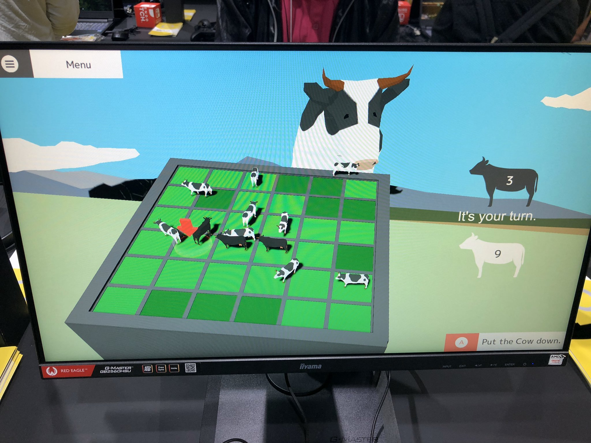 DEEEER Simulator features an odd minigame with a giant cow.
