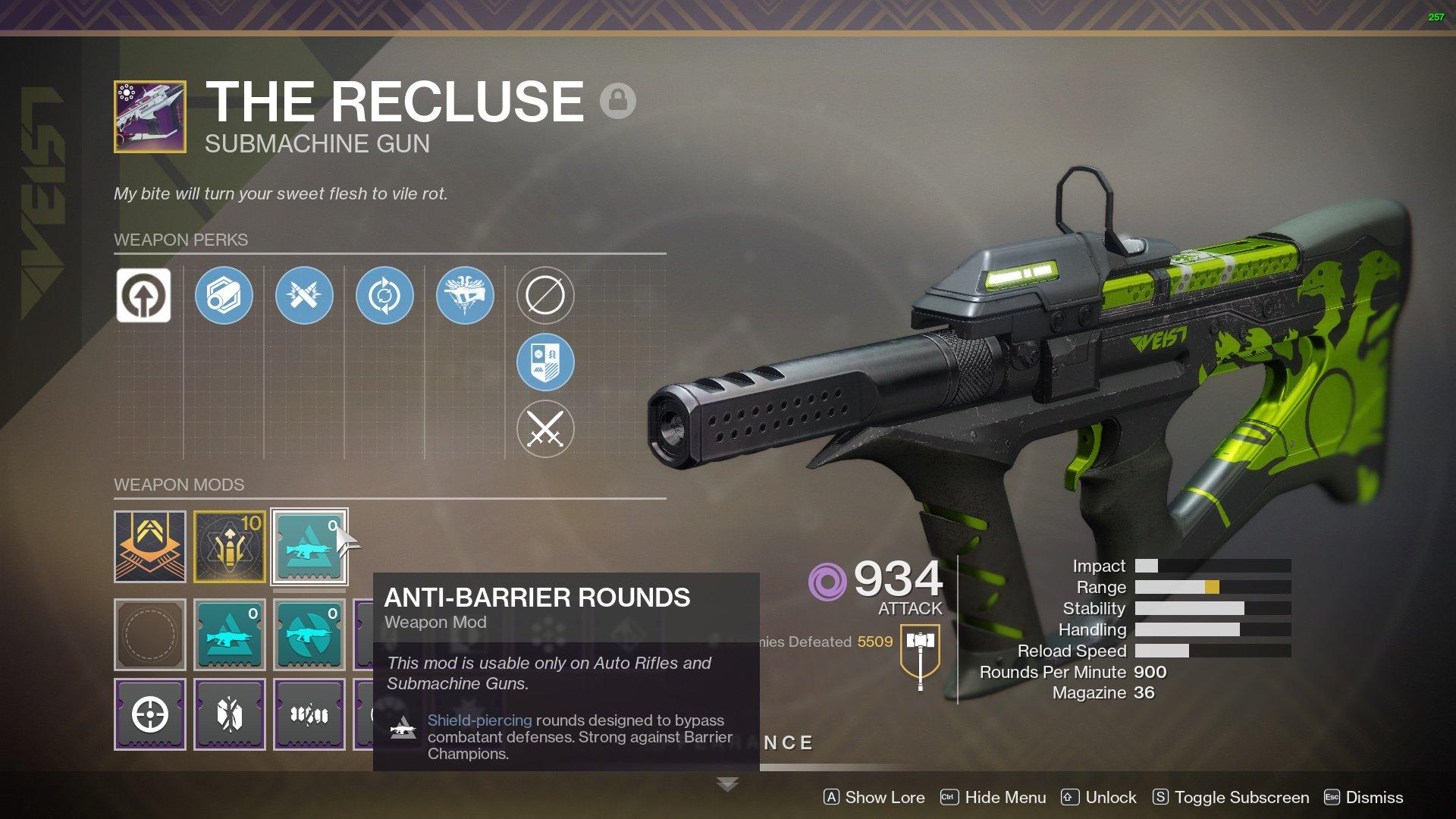 Destiny 2 Anti-Barrier Rounds