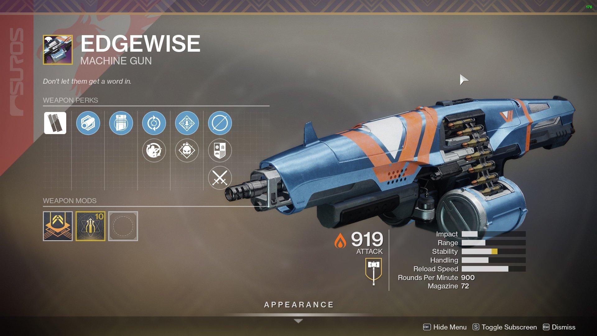 Destiny 2 Edgewise perks