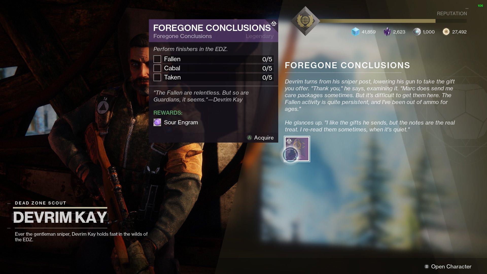 Destiny 2 Foregone Conclusions