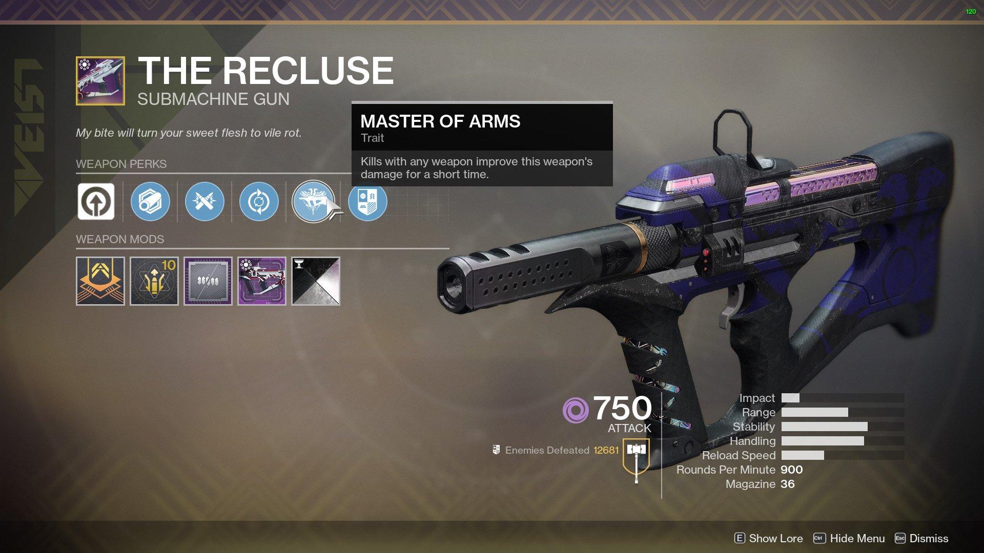 Destiny 2 The Recluse