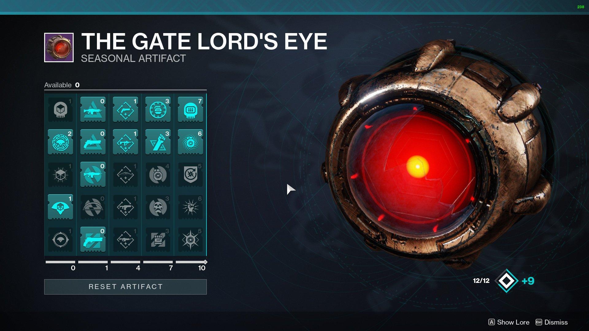 Destiny 2 Gate Lords Eye Seasonal Artifact