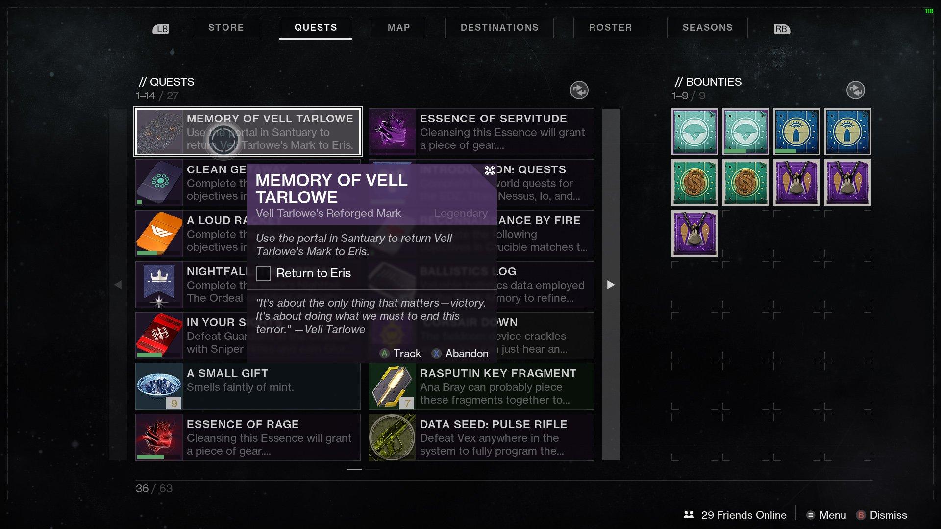 Destiny 2 Memory Vell Tarlowe