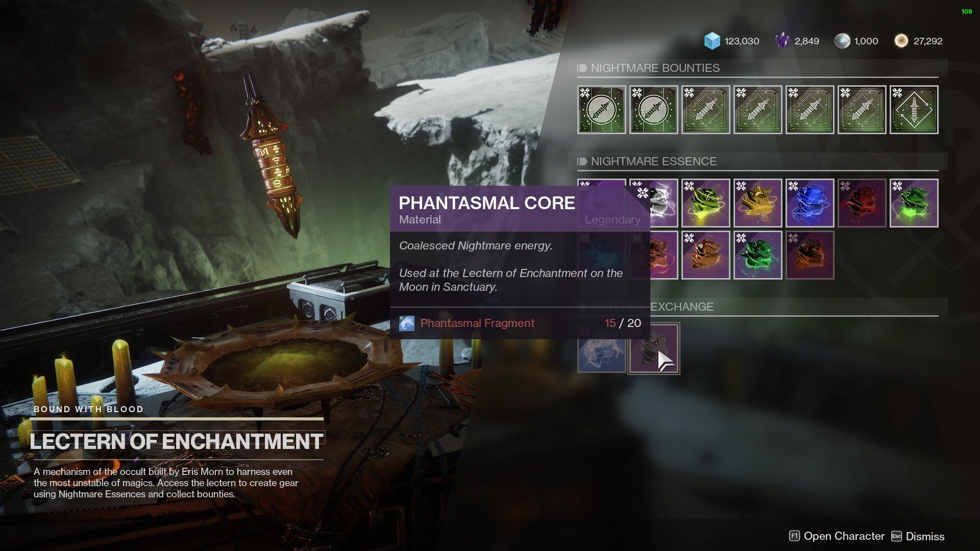 Destiny 2 Phantasmal Core