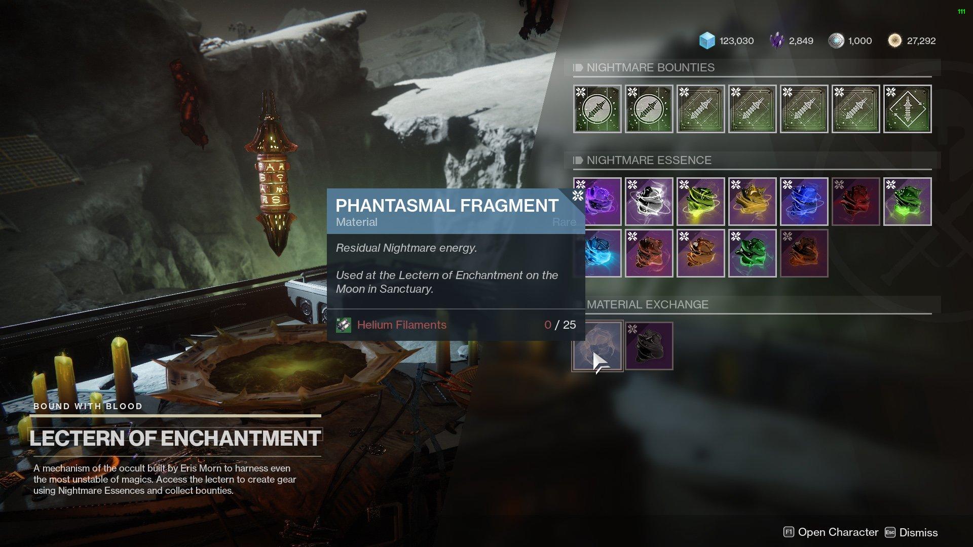 Destiny 2 Phantasmal Fragments