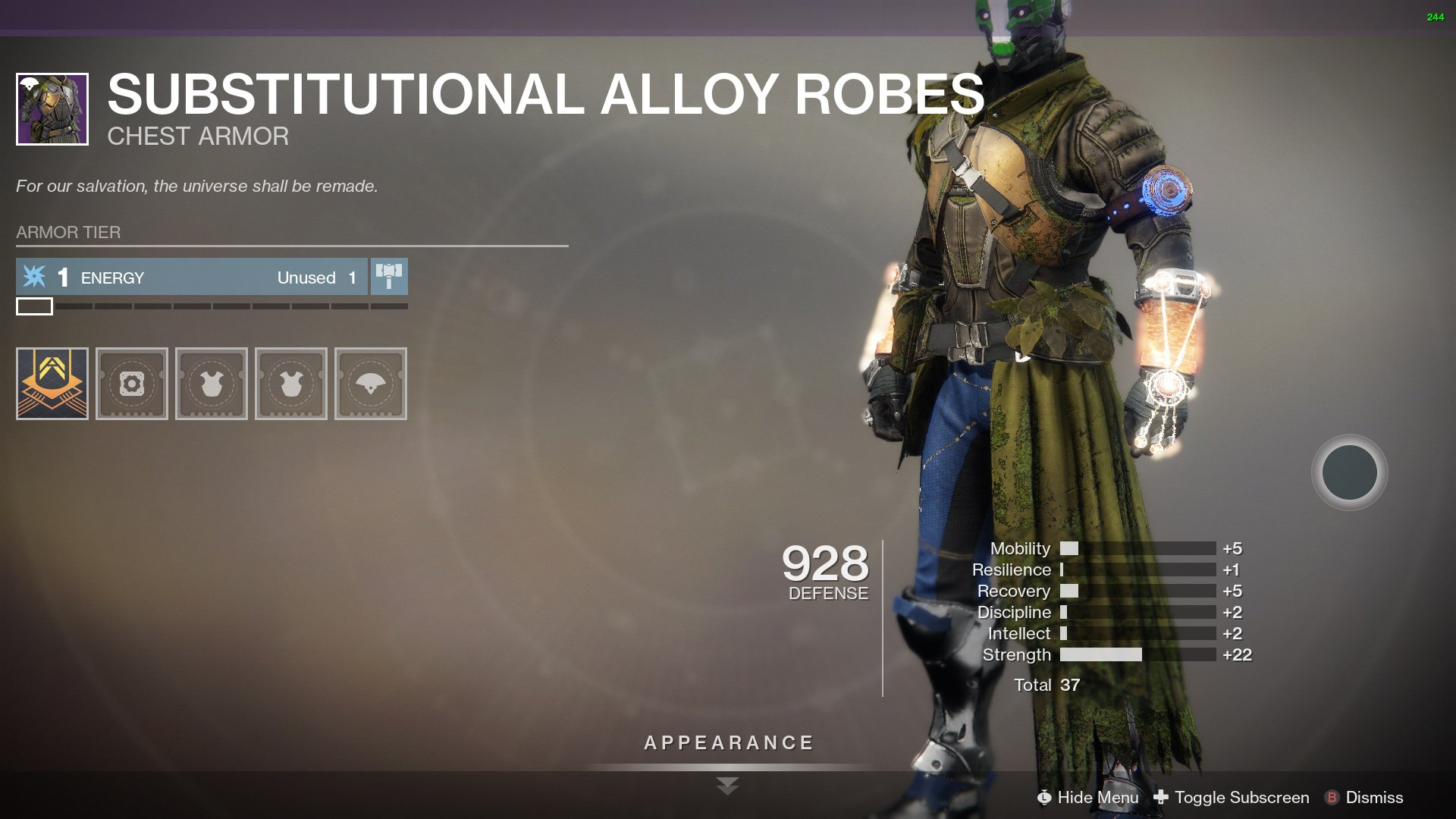 Destiny 2 seasonal armor
